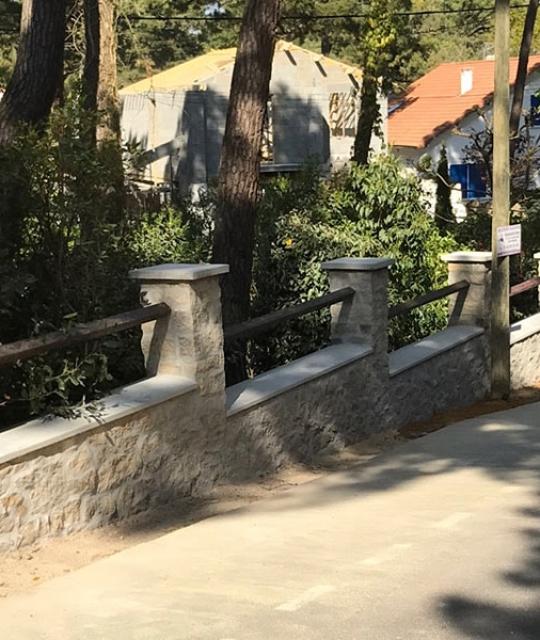 Construction clôture en pierre à La Baule