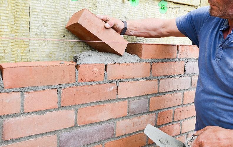 Habillage de mur (pierre de parement, briquette de parement)