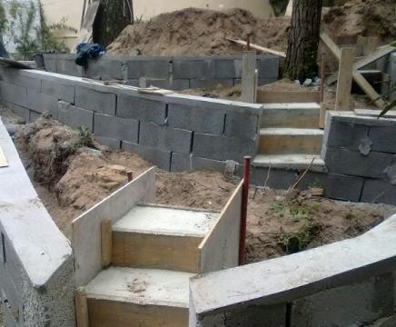 Maçonnerie jardin : mur, muret, clôture, escalier, terrasse