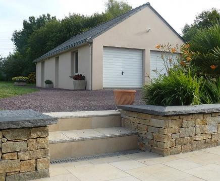 Travaux de maçonnerie extension maison garage