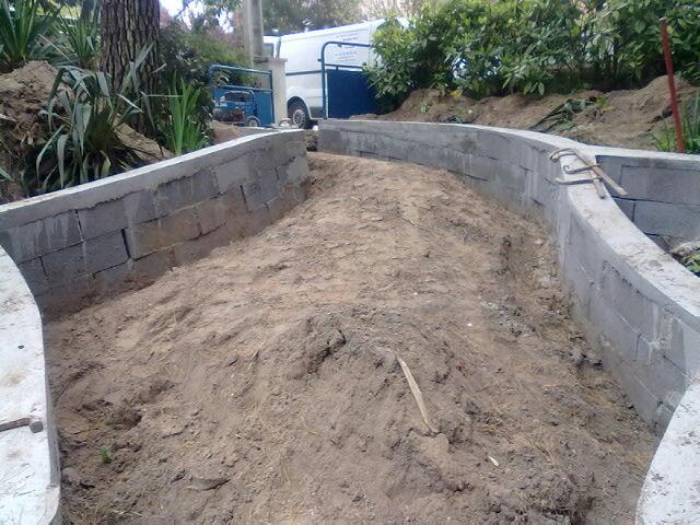 Ma onnerie jardin mur muret cl ture escalier terrasse for Cloture de jardin en beton